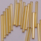 Large Pack 8mm Gold Glass Bugle Beads.